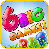 6 Big Easter Bunny Egg Games