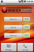 Screenshot of RedList (Free Version)