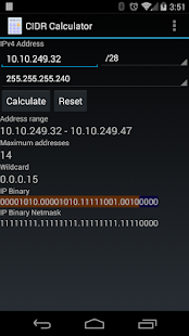 CIDR Calculator- screenshot thumbnail
