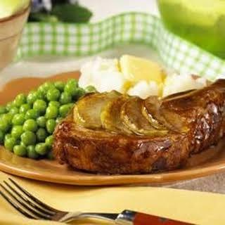 Apple-Glazed Pork Chops.