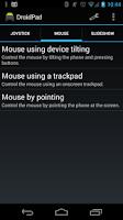 Screenshot of DroidPad: PC Joystick & mouse