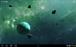 Screenshot of Asteroids 3D live wallpaper