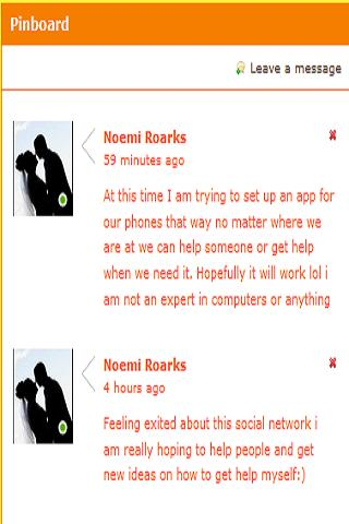 Anxiety Social Network - screenshot