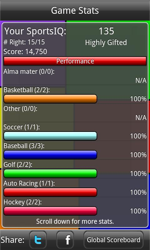 SportsIQ - screenshot
