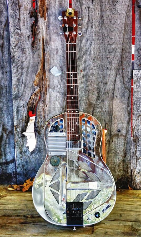 Slim Bawp Pierce's  Resonator by Scott Walker - Artistic Objects Musical Instruments ( color, musician, resonator, guitar, blues )
