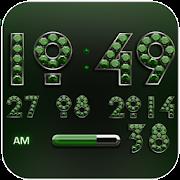 Digi Clock Widget Green Diamon icon