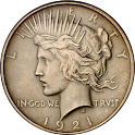 Peace Dollar logo