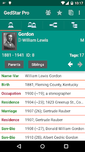 GedStar Pro Genealogy Viewer- screenshot thumbnail