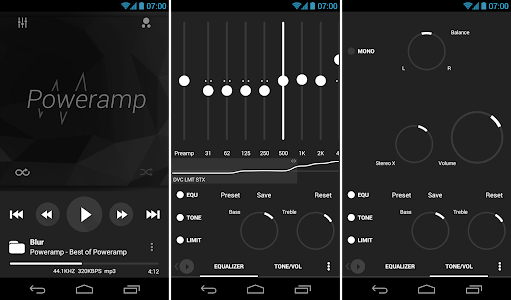 Poweramp skin 8in1 Flat Dark v1.0.3