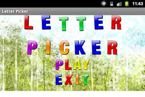 Letter Picker - screenshot thumbnail