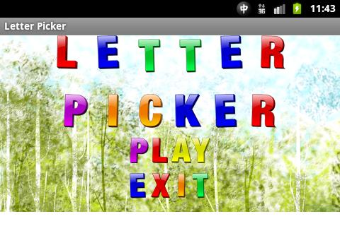 Letter Picker - screenshot