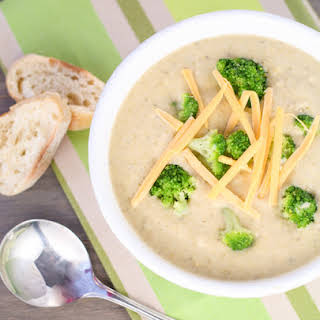 Crock Pot Broccoli Cheese Soup.