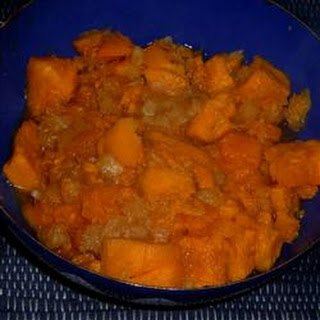 Spicy Glazed Sweet Potatoes and Pineapples
