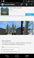 Screenshot of SocialCrafting: Minecraft Maps