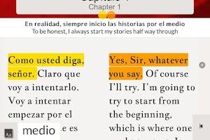 Screenshot of Read in Spanish: Maldito gato