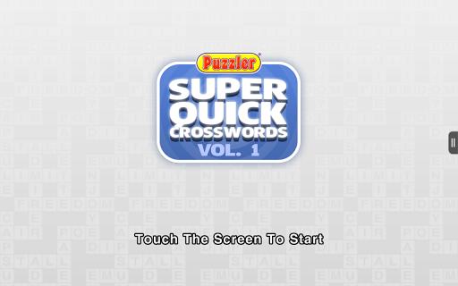 Puzzler Super Quick Xword - 1