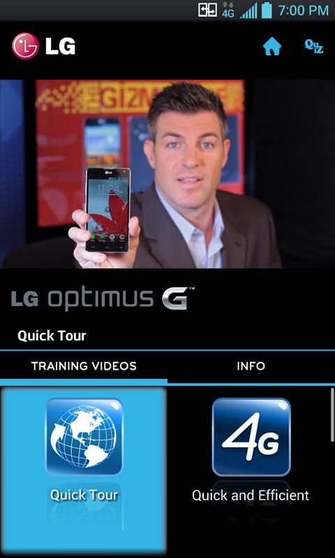 LG Optimus G Sprint Training - screenshot