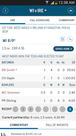 The ESPNcricinfo Cricket App Screens