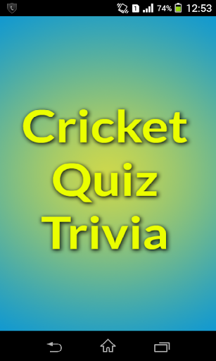 Cricket Quiz Trivia