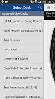 Screenshot of ClearSlide Remote