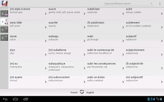 Screenshot of Dictionary French English