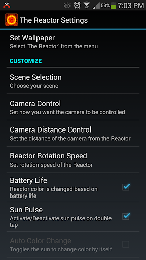 Reactor Live Wallpaper Trial
