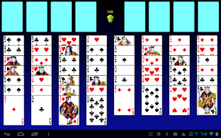 Screenshot of Colorface Solitaire