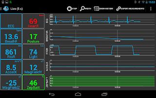 Screenshot of SenseView BT Zephyr Sensor