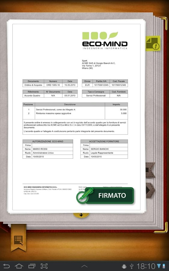 Libro Firma - screenshot