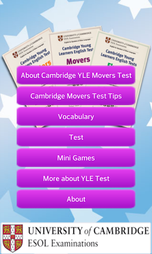 Cambridge Movers Test