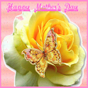 Happy Mother's Day Rose LWP logo