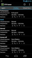Screenshot of CPU tuner (Rooted phones)