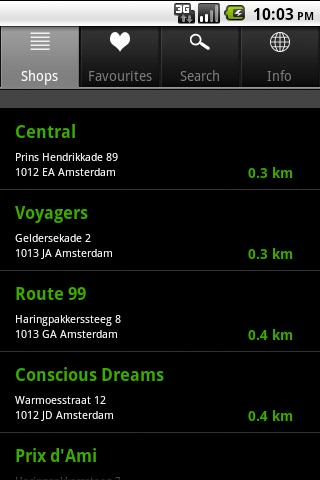 CoffeeTracker Amsterdam - screenshot