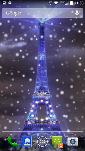 Snow in Paris Live Wallpaper