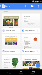 Google Docs – Miniaturansicht des Screenshots