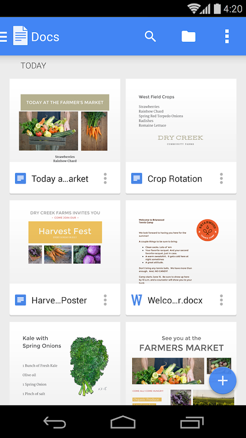 Google Docs – Screenshot