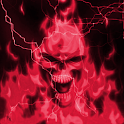 Glowing Red Lightning Skull LP