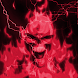 Glowing Red Lightning Skull LP