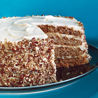 Pecan Spice Layer Cake with Cream Cheese Frosting.