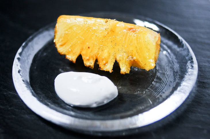 Vanilla Roasted Pineapple with Coconut Whipped Cream Recipe
