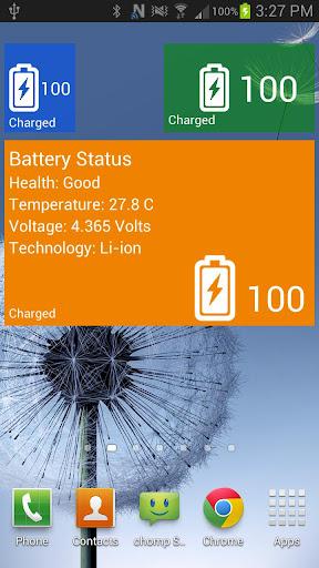 WP8 Battery Widget Windows 8