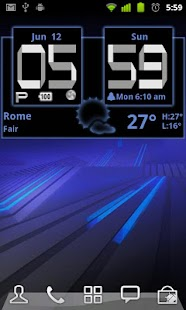 Honeycomb Weather Clock Widget - screenshot thumbnail