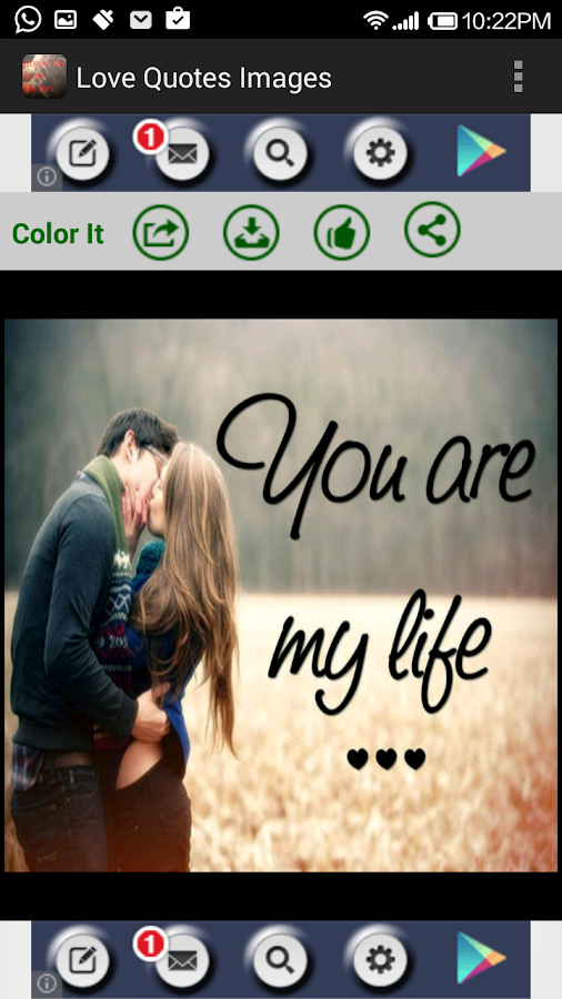 Love Quotes With Images Amazing Romantic Love Quotes & Images  Android Apps On Google Play