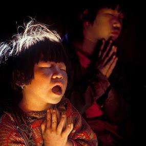 The Prayer by Roberto Nencini - Babies & Children Child Portraits