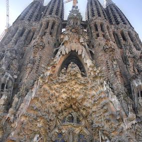 Sagrada ilia The Eastern Facade by Prajwal Ullal - Buildings & Architecture Places of Worship ( awestruck, gaudi, architecture, barcelona, sagrada famila,  )