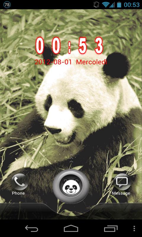 Panda GO Locker Theme - screenshot