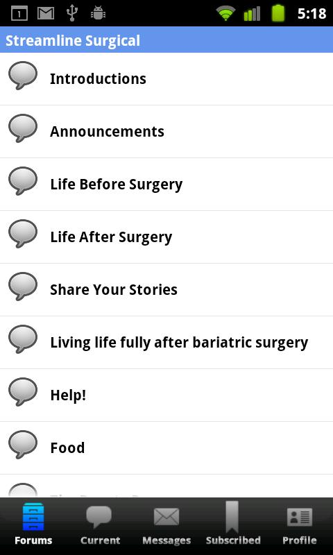Weight Loss Surgery Forum- screenshot