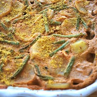 Vegan Cheesy Potato Bean Casserole