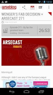 Arseblog (Official) - screenshot thumbnail