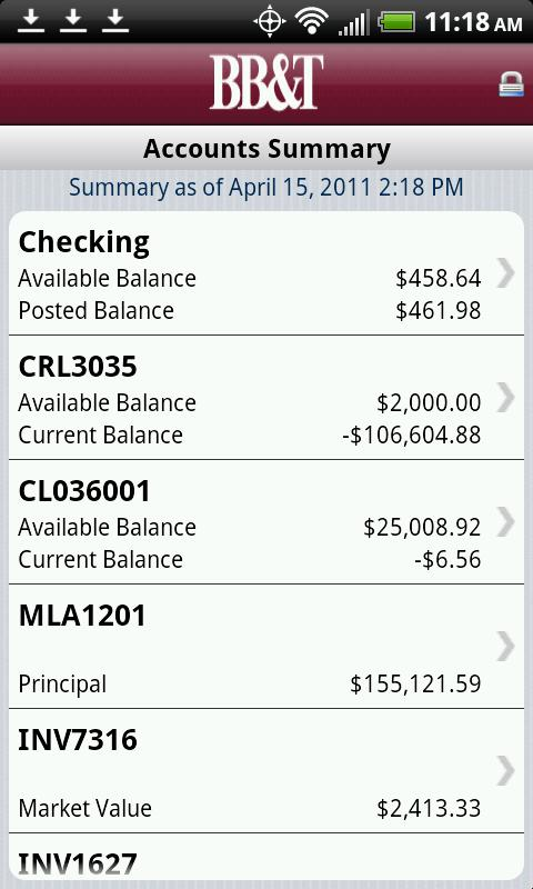 BB&T Mobile Banking - screenshot